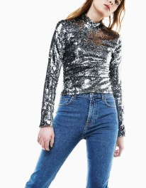 BERSHKA SEQUIN TOP - 29,99