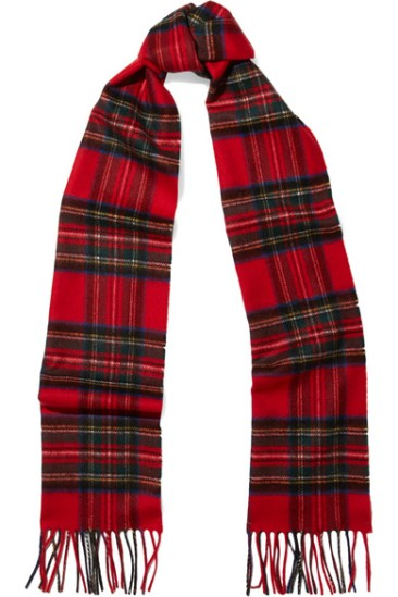 A tartan scarf | JOHNSTONS OF ELGIN - £100