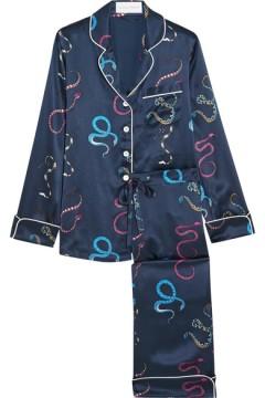A silk pyjama set | OLIVIA VON HALLE - £350